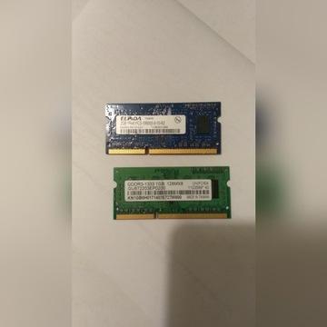 Pamiec 3Gb DDR3 PC3 1x 2Gb + 1x 1Gb