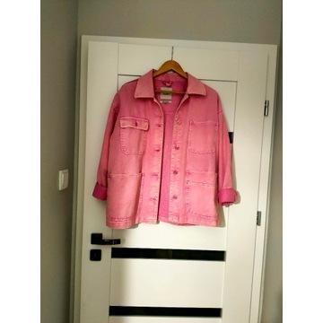 Różowa kurtka jeansowa Pull&Bear rozm. M oversize