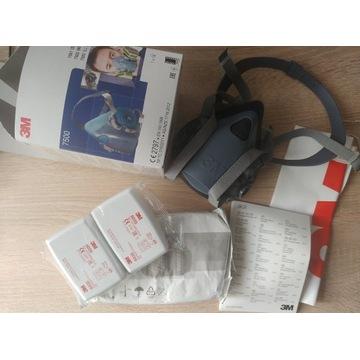 NOWA Maska 3m7500 L+filtry 3M2szt 6035 p3+2szt6059