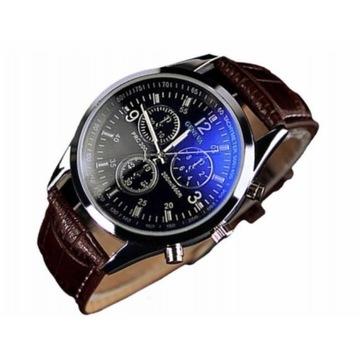 Klasyczny zegarek męski brąz