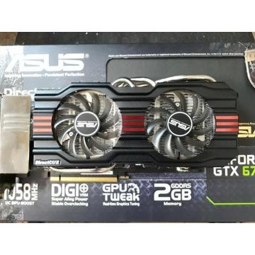 Asus GTX 670 2Gb 256Bit  USZKODZONY