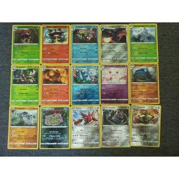 Zestaw 22 kart Reverse Holo Rare Pokemon
