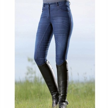 Bryczesy HKM Jeans Blue Joung r.36