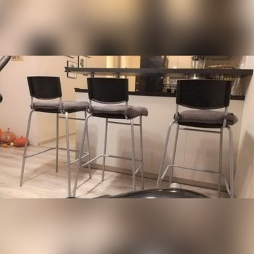Hoker Krzesło wysokie z poduchą IKEA STIG 3szt kpl
