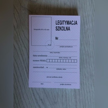 Legitymacja szkolna policealna MEN-1/2 4 sztuki
