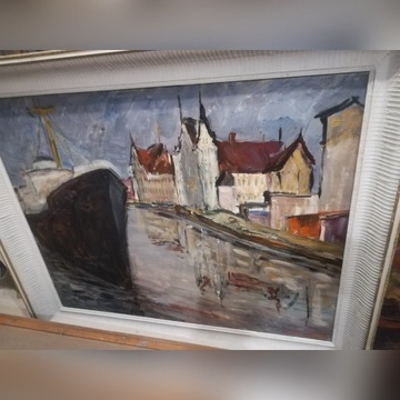 Duży Obraz Józefa Wasiołka Port