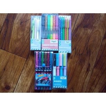 Długopisy mazaki ołówki mechaniczne