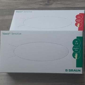 Rękawiczki lateksowe bezpudrowe,100szt.,sensitive