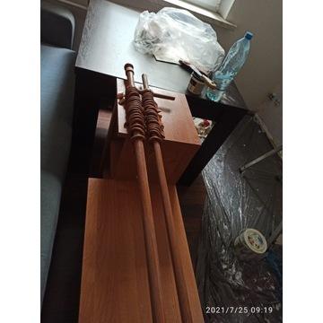 Podwójny drewniany karnisz 160cm