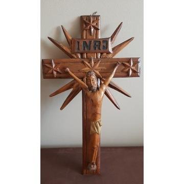 Rzeźba ludowa stary krzyż