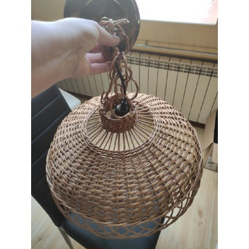 Żyrandol z wikliny średnica 43 cm