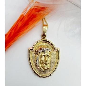 Złoty medalik z wizerunkiem Jezusa, próba 585