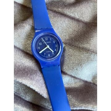 Zegarek niebieski Quartz na długim pasku
