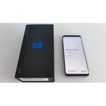 Samsung S8 + ładowarka SAMSUNG Fast Charg + etui