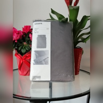 Komplet pościeli Ikea Gaspa szary 200x200 cm