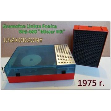"""Adapter Fonica WG-400 """"Mister Hit"""" gramofon z 1975"""