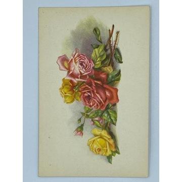 Pocztówka z różami w stylu Klein