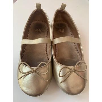 Baletki złote
