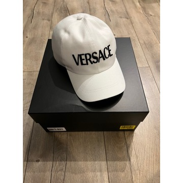Czapka z daszkiem Versace biała nowa oryginalna
