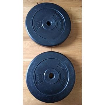2x OBCIĄŻENIE CEMENTOWE TALERZ 10 kg (20 kg)