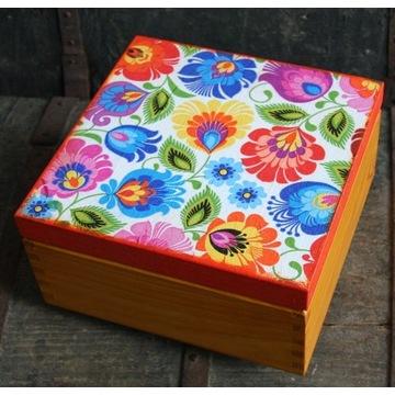 Herbaciarka, pudełko, szkatułka, drewniane pudełko