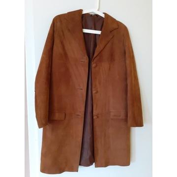 Kobieca kurtka skórzana rudo - brązowa S/M