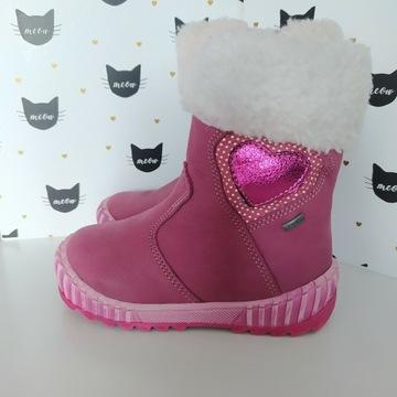 Nowe różowe botki kozaki Lasocki Kids rozmiar 22