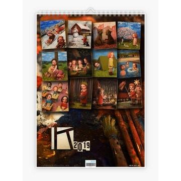 "Krzysztof Iwin - ""12 mies."" v.2 kalendarz autorski"