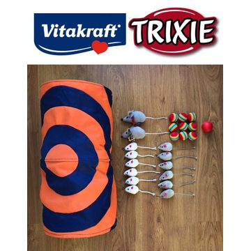 Tunel Trixie dla kota zabawki myszki piłeczki