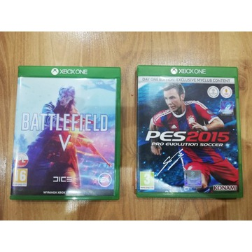 2 Gry Xbox ONE Battlefield 5 + PES 2015
