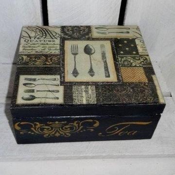 Herbaciarka, szkatułka, pudełko / wyprzedaż