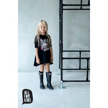 Czarna sukienka  All for kids rozmiar 104/110