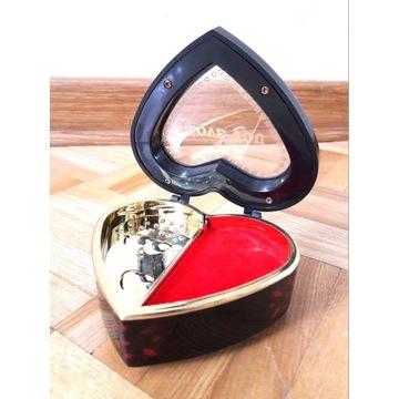 Szkatułka kasetka na biżuterię pozytywka Serce