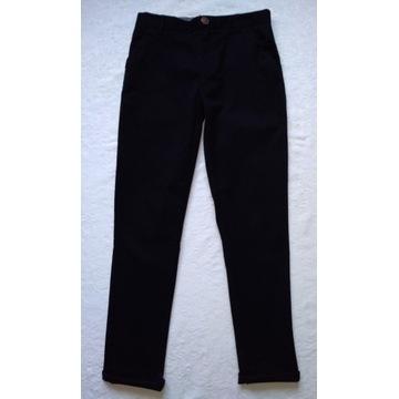 Next spodnie chino wizytowe czarne jak nowe r. 152
