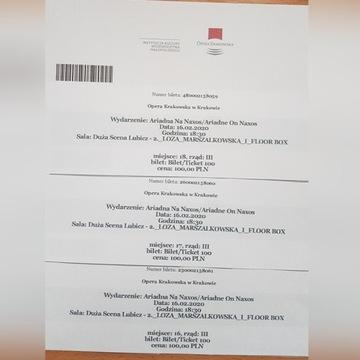 Bilety do opery krakowskiej