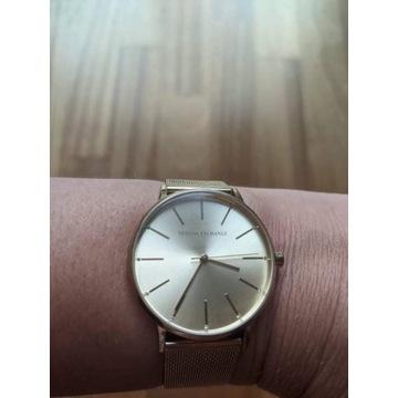 ARMANI piękny efektowny złoty zegarek damski