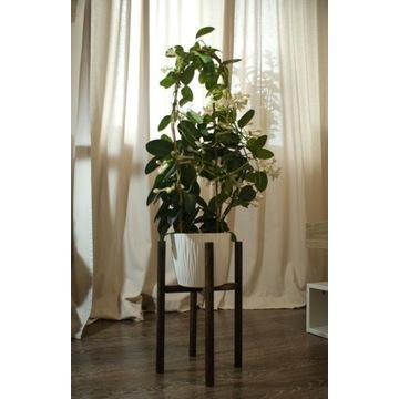 Drewniany kwietnik stojak na kwiaty donice