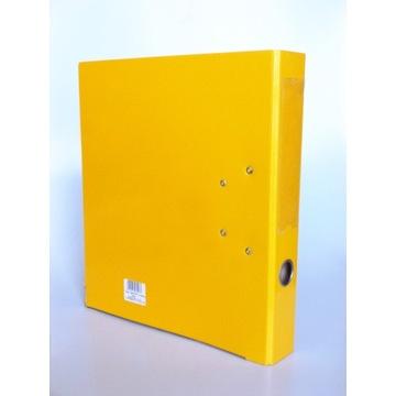 Segregator A4 z dźwignią okuciami solidny żółty