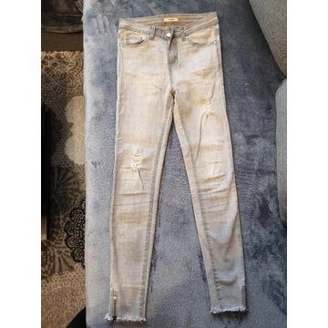 Spodnie rurki, 36, szare
