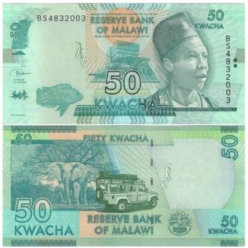 MALAWI 50 KWACHA 2018 P64e UNC