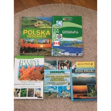 5 książek dla dzieci geografia encyklopedia ilustr