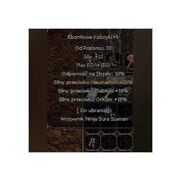 Classicmt2 Ebonitowe kolczyki +9 POD DT 24/7!!!!