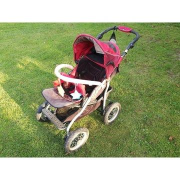 Wózek dziecięcy X Lander posiada amortyzowane koła