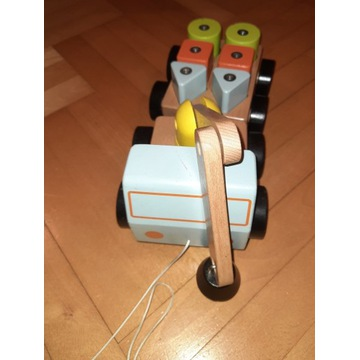 IKEA Mula - dźwig z klockami magnesy drewno buk