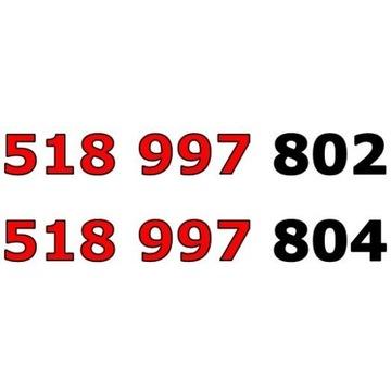 518 997 80x ORANGE ZŁOTY NUMER STARTER PARA