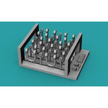 Szekle proste (U) 5,5mm - 10 sztuk - 1:48