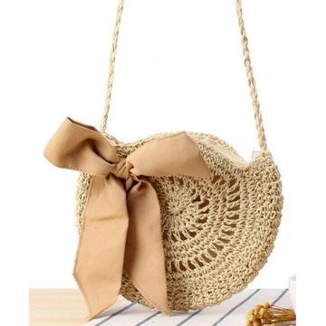 Koszyk torebka pleciona shoperka BOHO THAI na lato