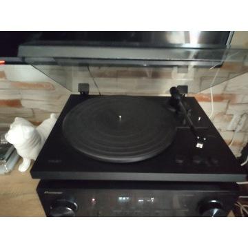 Gramofon TEAC TN-175 + 25 albumów + stojak