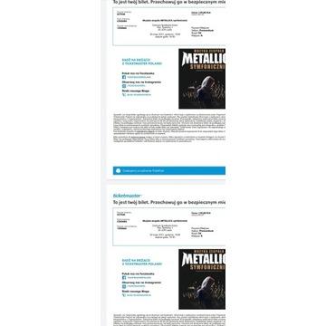 Bilet muzyka zespołu Metallica symfonicznie