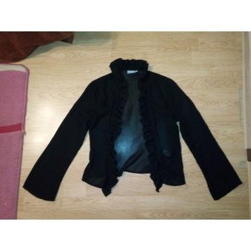 Czarna narzutka, rozmiar 34, goth, gothic, falbany